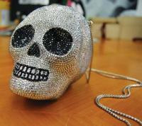 Bejewelled skull handbag retailing at JPY475,000