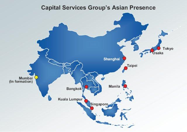Capital Services Group's Asian Presence