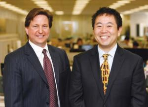 The Real Estate Team Leaders:  Jeffrey Stone (left) and Hidehito Kanai
