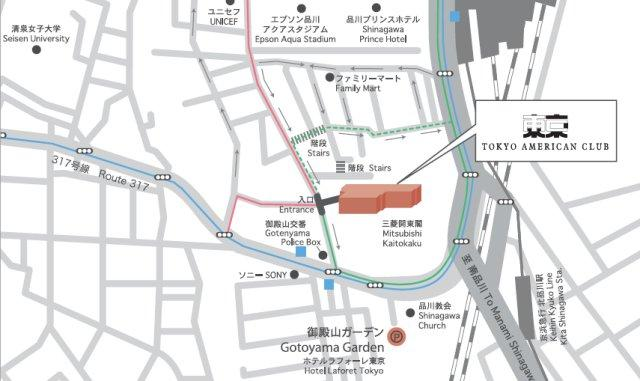 Map to Tokyo American Club