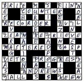 Answeres to the March/April 2008 Crossword