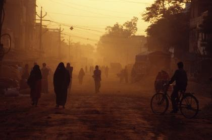 Dusty Street in India