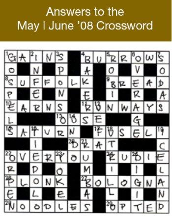 Answers to the May/ June 2008 Crossword