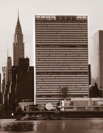 The UN headquarters: New York