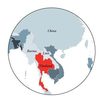 The country borders Myanmar (Burma), Laos, Cambodia and Malaysia.
